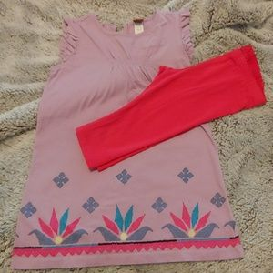 Tea outfit, size 4, dress and capris EUC